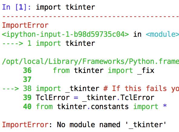 How to install tkinter with Python 3 on Mac | Bohumír Zámečník